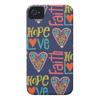 信頼希望および愛単語の芸術 iPhone 4 カバー