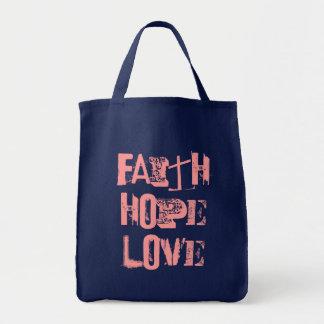 信頼希望および愛 トートバッグ