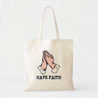 信頼手の十字をHangBagを祈ってもらって下さい トートバッグ
