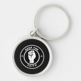 信頼45rpmのビニールの報酬Keychainを保って下さい シルバーカラー丸型キーホルダー