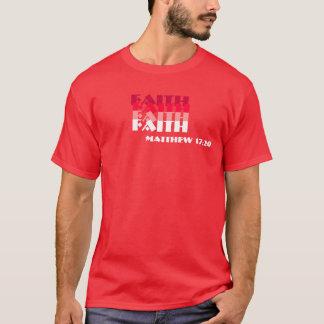信頼、信頼、信頼、信頼、Matthewの17:20 Tシャツ