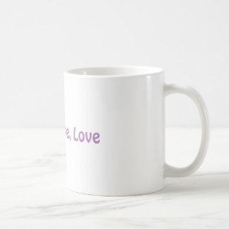 信頼、希望、愛コーヒー・マグ コーヒーマグカップ