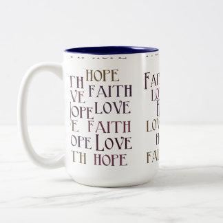 信頼、希望、愛 ツートーンマグカップ