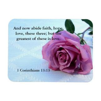 信頼、希望、愛… 1つのCorinthiansの13:13の磁石 マグネット