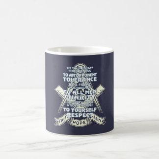 信頼-希望-慈善 コーヒーマグカップ