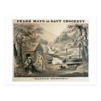 「修繕」に、「Davy Crockett」のstarrのためのポスターサドルを置いて下さい ポストカード