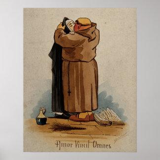 修道士のキスをするな尼僧、愛はすべてをのヴィンテージ征服します ポスター