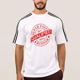 修飾されたすごい速いランナーアディダスSS Tシャツ