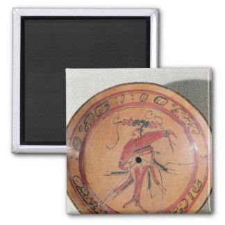 俳優かダンサーを描写する大きいtripodal皿 マグネット