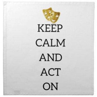 俳優のギアの平静そして行為を保って下さい ナプキンクロス