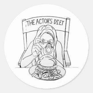 俳優のダイエットのステッカー ラウンドシール