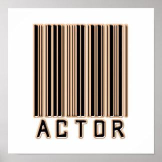 俳優のバーコード ポスター