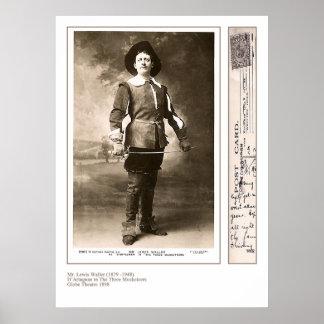 俳優のルイスWallerのプリント ポスター