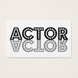 俳優の影の名刺 名刺