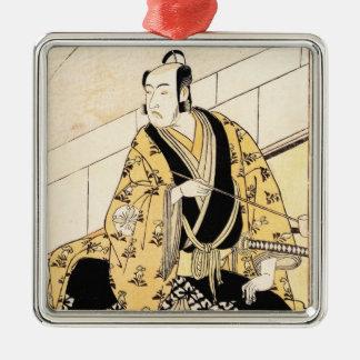 俳優の松本Koshiro IVつけられていた外部屋 シルバーカラー正方形オーナメント
