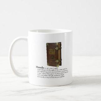 俳優の辞書: 手 コーヒーマグカップ