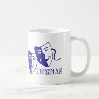 俳優の青 コーヒーマグカップ