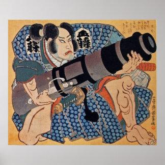 俳優の~ Utagawa Kuniyoshi (歌川国芳1797-1861年) ポスター