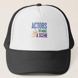 俳優は場面を作るのを好みます キャップ