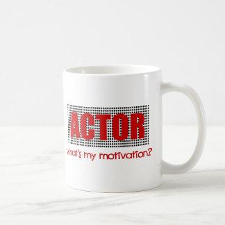俳優は、何私の刺激ですか。--赤および黒 コーヒーマグカップ