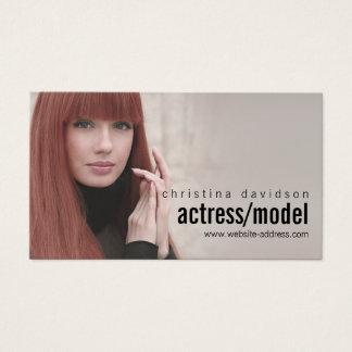 俳優、モデルのためのカスタマイズ可能な写真カード 名刺