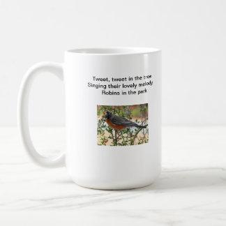 俳句のロビンのマグ コーヒーマグカップ