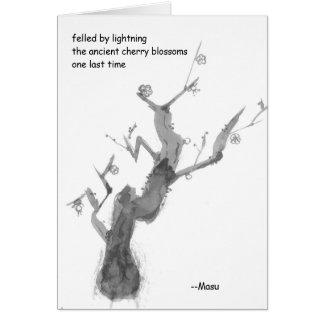 俳句の挨拶状(哀悼の言葉) カード