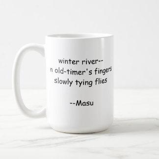 俳句の魚釣りのマグ コーヒーマグカップ