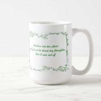 俳句は余りに短いです コーヒーマグカップ