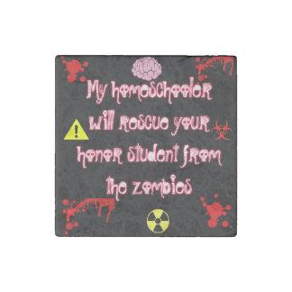 個々のHomeschoolのゾンビの大理石の石の磁石 ストーンマグネット