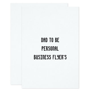 個人事業のフライヤのrsvpの平らなカードがあるパパ カード