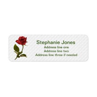 個人化して下さい: テンプレートの赤いバラの写真に演説して下さい ラベル