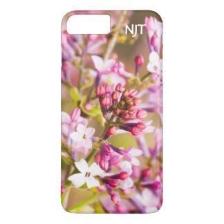 個人化して下さい:  春の薄紫のデジタル写真 iPhone 8 PLUS/7 PLUSケース