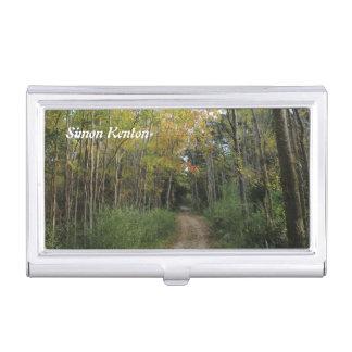 (個人化して下さい)森林道の写真 名刺入れ
