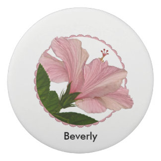個人化して下さい: 熱帯花PicピンクのHibisus 消しゴム
