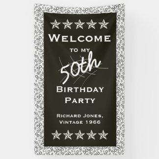 個人化して下さい: 私の第50誕生会への歓迎 横断幕