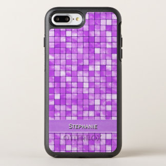 個人化して下さい: 紫色の装飾的なタイルパターン オッターボックスシンメトリーiPhone 8 PLUS/7 PLUSケース