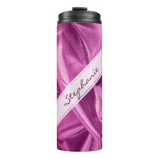 個人化して下さい:  金属模造のな紫色の蘭Lame タンブラー