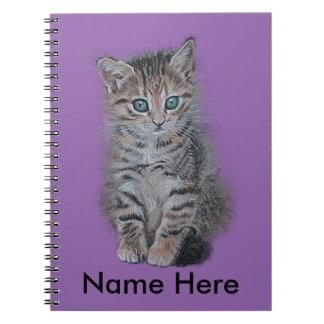 個人化なること準備ができた子ネコの虎猫の芸術 ノートブック