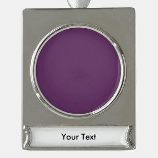 個人化なるべきナスの紫色のテンプレートはカスタマイズ シルバープレートバナーオーナメント