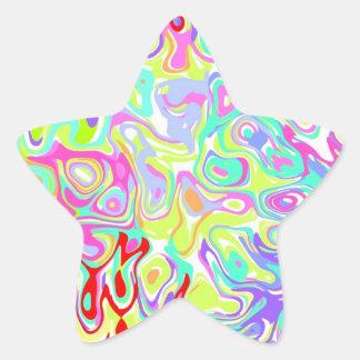 個人化なるべき紙吹雪の星のステッカーの~のカスタム! 星シール
