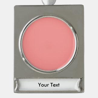個人化なるべきBubblegumのピンクのテンプレートはカスタマイズ シルバープレートバナーオーナメント