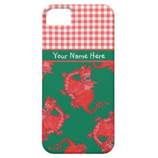 個人化なるべきiPhone 5/5sの場合: かわいく赤いドラゴン iPhone SE/5/5s ケース