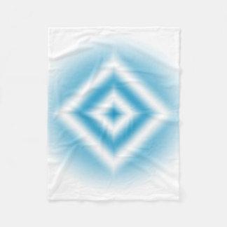 個人化空の青いダイヤモンドの勾配 フリースブランケット