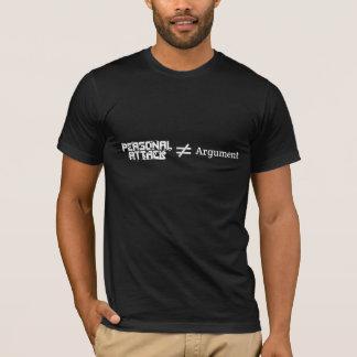 個人攻撃の≠の議論 Tシャツ