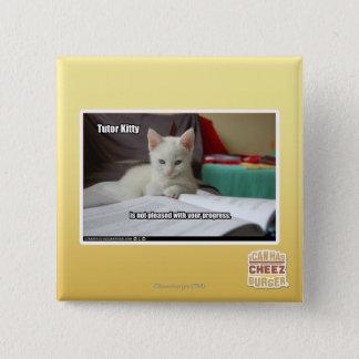 個人教師の子猫 5.1CM 正方形バッジ