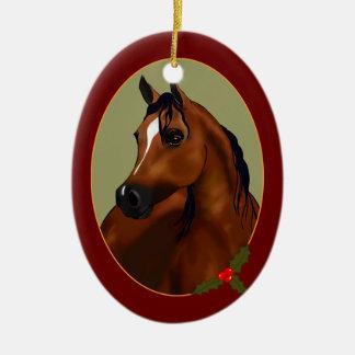 個人的なアラビアの馬のカメオの休日のオーナメント セラミックオーナメント