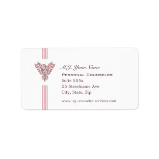 個人的なカウンセラーの贅沢のストライプな、ピンクのフェニックス ラベル