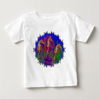 個人的なタツノオトシゴのアクアリウムの子供のワイシャツ ベビーTシャツ