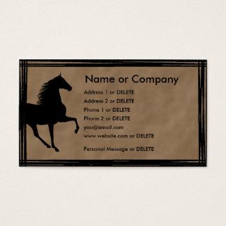 個人的なテネシー州の歩くの馬のシルエット 名刺